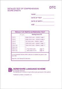 Detailed Test of Comprehension